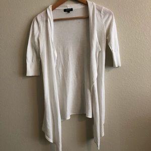 Express white cardigan